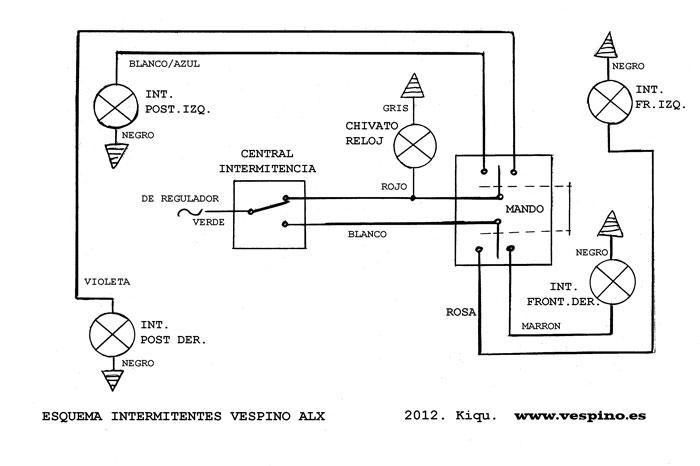 Circuito Luces Led Intermitentes : Tecnica del vespino los intermitentes alx